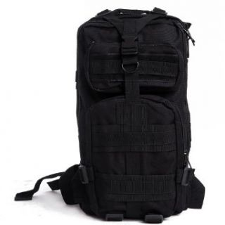HDE Heavy Duty 20L Outdoor Sport Military Tactical Backpack Camping Hiking Trekking Bag (Black)  Hiking Daypacks  Sports & Outdoors