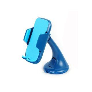 Full Rubber Pad 6cm 9cm Width Car Windscreen Mount Holder Pink Blue White Black (Blue) Cell Phones & Accessories