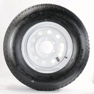 "eCustomRim Trailer Tire + Rim ST225/75D15 H78 15 225/75 15 15"" Load Range D 6 Lug Wheel White Modular Automotive"