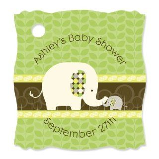 Baby Elephant   20 Personalized Baby Shower Die Cut Card Stock Tags Toys & Games