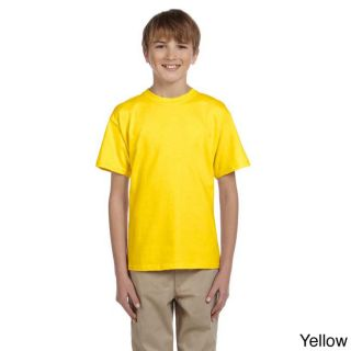 Fruit Of The Loom Fruit Of The Loom Youth Heavy Cotton Hd T shirt Yellow Size M (10 12)