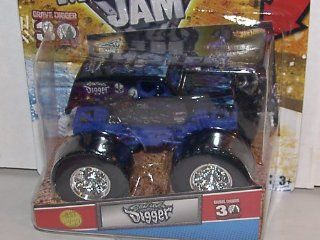2012 HOT WHEELS 164 SCALE SON UVA DIGGER 2012 1ST EDITIONS MONSTER JAM TRUCK 30TH ANNIVERSARY GRAVE DIGGER SERIES WITH TOPPS TRADING CARD Toys & Games