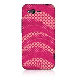 Head Case Pink Rough Wave Pattern Snap on Glossy Back Case Cover For Htc Rhyme Cell Phones & Accessories