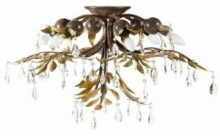 Yosemite NPJ792 Six Light Down Lighting Flush Mount Ceiling Fixture from the New Plantation Coll, Maple with Oxido Hightligh   Close To Ceiling Light Fixtures