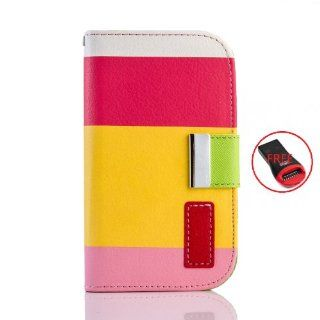 Gadgetsevil Fashion Luxury PU Leather Wallet Flip Case with Credit Card Slots & Holder For Samsung Galaxy S3 mini i8190 / i9305 / SGH T999 (Red/Yellow/Pink) Beauty