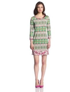 BCBGMAXAZRIA Women's Ania Round Neck Shift Dress