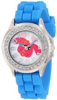 Frenzy Kids' FR799 Blue Rubber Band Dog Watch Watches