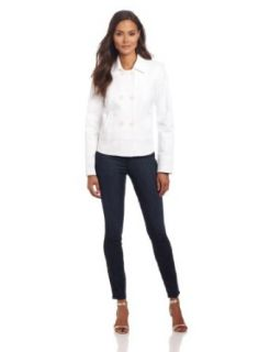 Anne Klein Women's Breasted Jacket, White, 4 Blazers And Sports Jackets