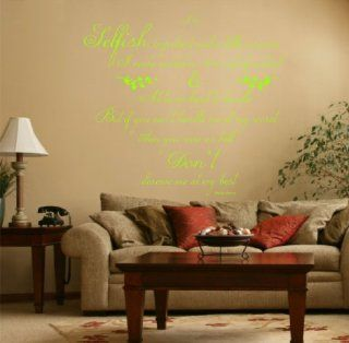 Marilyn Monroe Quote, Vinyl Wall Art Sticker, Decal Mural, Bedroom, Kitchen, Lounge, 120cm wide Lime Green   Wall Decor Stickers