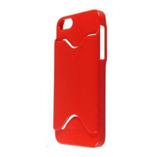 eFuture Red Credit Card Holder Gloss Hard Case Cover fit for the new Iphone5 5G +eFuture's nice Keyring Cell Phones & Accessories
