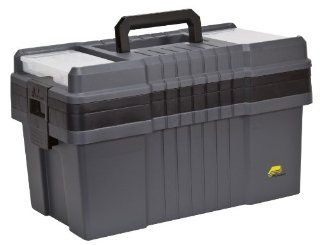 Plano 823 003 Contractor Grade Po Series 22 Inch Tool Box, Graphite Gray with Black Handles and Latches   Toolboxes