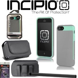 iPhone 5 Incipio FAXION Cover Case Turquoise iph 826 with Case that fits your Phone with the Cover on it, Stylus Pen and Radiation Shield. Cell Phones & Accessories