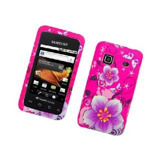 Samsung Galaxy Prevail M820 SPH M820 Hot Pink Flowers Cover Case Cell Phones & Accessories