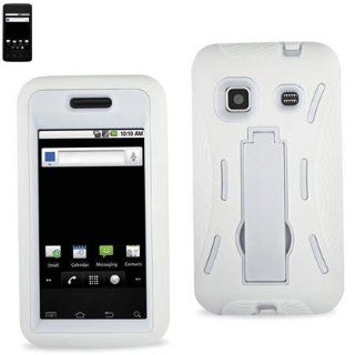 Reiko SLCPC01 SAMM820WH Premium Heavy Duty Hybrid Combo Case for Samsung Galaxy Prevail M820   Retail Packaging   White Cell Phones & Accessories