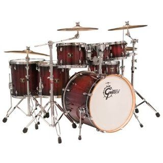 Gretsch CMT E826P Catalina Maple Six Piece Euro Drum Kit   Dark Cherry Burst Musical Instruments