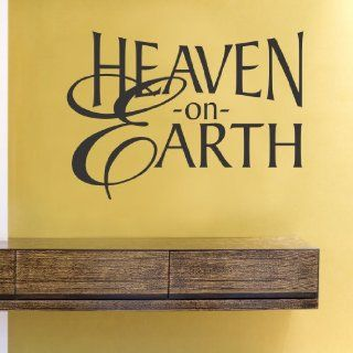 Heaven on earth Vinyl Wall Decals Quotes Sayings Words Art Decor Lettering Vinyl Wall Art Inspirational Uplifting   Wall Decor Stickers