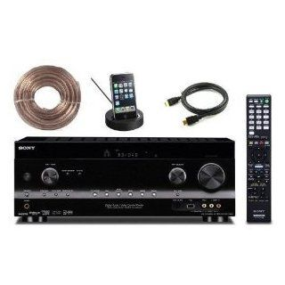 Sony STR DH830 3D 7.1 Home Theater A/V Receiver + Ipod Iphone Dock, High Speed Hdmi Cable and 50ft 16 AWG Speaker Wire Electronics