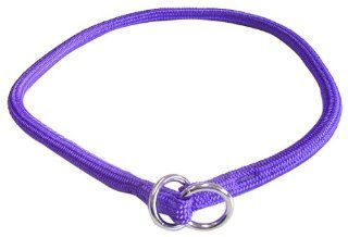 Hamilton 3/8 Inch x 26 Inch Round Braided Choke Nylon Dog Collar, Purple (832 PU)  Pet Choke Collars