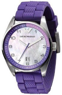 Emporio Armani Purple Silicon Ladies Watch Ar5881 Watches