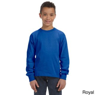Fruit Of The Loom Fruit Of The Loom Youth Heavy Cotton Hd Long Sleeve T shirt Blue Size L (14 16)