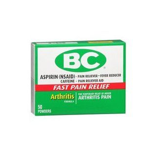 BC Arthritis Formula Pain Reliever Fever Reducer Powder, 50 each (Pack of 2) Health & Personal Care