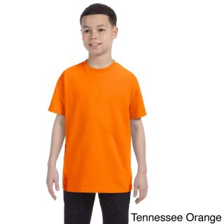 Gildan Gildan Youth Heavy Cotton T shirt Orange Size L (14 16)