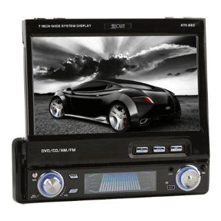 "Absolute ATV 860 7"" Touchscreen TFT LCD Monitor w/ DVD, CD, , WMA Player, USB Port and SD Card Slot  Vehicle Overhead Video"