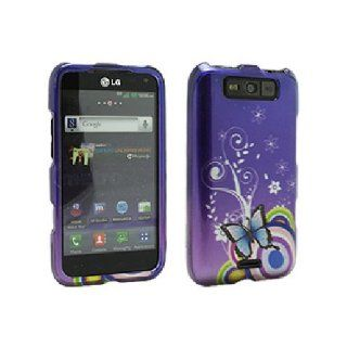 Purple Hard Snap On Cover Case for LG Connect 4G MS840 Viper LS840 Cell Phones & Accessories