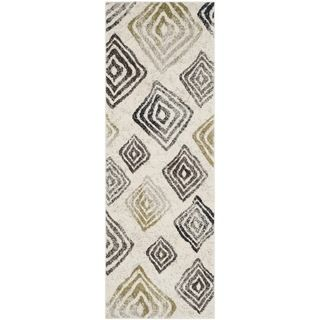Safavieh Porcello Ivory/ Brown Rug (24 X 67)