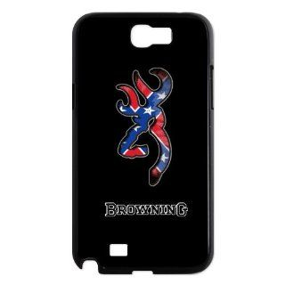 Custom Browning Back Cover Case for Samsung Galaxy Note 2 N7100 N625 Cell Phones & Accessories