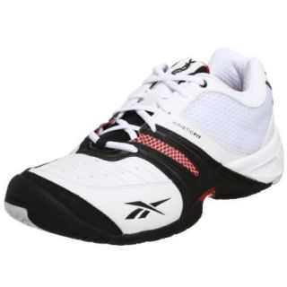 Reebok Men's KFS Out Aced Tennis Shoe, White/Black/Red, 7 M Shoes