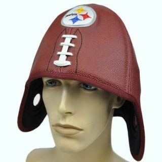 NFL Pittsburgh Steelers Reebok Faux Leather Helmet Head Football Shaped Hat Cap  Sports Fan Novelty Headwear  Sports & Outdoors