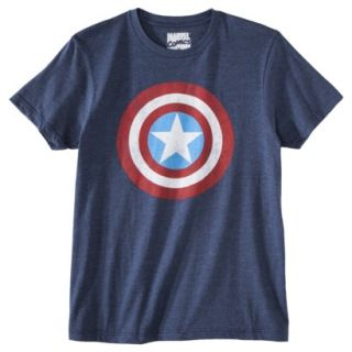 Mens Captain America Shield Graphic Tee