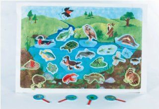 Down By The Pond   Pond Life Scene early learning flannelboard play set   Pre Cut Figures Toys & Games