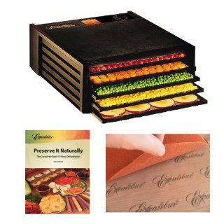 Excalibur 2500ECB Economy 5 Tray Counter Size Food Dehydrator + Accessory Kit Kitchen & Dining