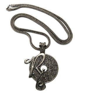 "New Iced Out ROCAFELLA Pendant 4mm&36"" Franco Chain Hip Hop Necklace XP888HE Jewelry"