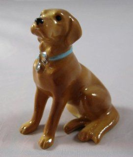 Shop LABRADOR RETRIEVER Dog GOLDEN Yellow Lab w/Blue Collar MINIATURE Figurine Ceramic HAGEN RENAKER 888G at the  Home D�cor Store