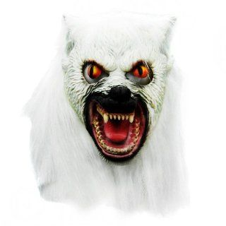 Halloween White Creepy Wolf Dead Latex Mask Costume Prop Novelty Gifts Toys & Games