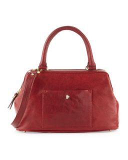 Epic Leather Satchel/Shoulder Bag, Cordovan Red   Etienne Aigner
