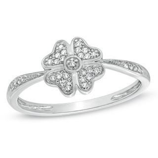four leaf clover ring in 10k white gold orig $ 219 00 186 15