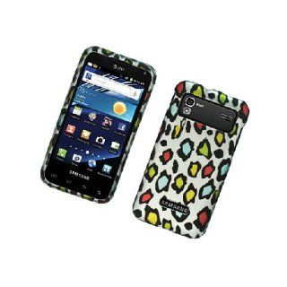 Samsung Captivate Glide i927 SGH I927 White Rainbow Leopard Skin Cover Case Cell Phones & Accessories