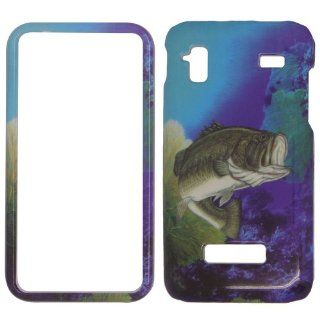Samsung Captivate glide i927   Beautiful Ocean Sceen Bass Fish Shinny Gloss Finish Hard Plastic Cover, Case, Easy Snap On, Faceplate. Cell Phones & Accessories