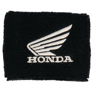 Honda Wing Black/White Brake Reservoir Sock Cover Fits CBR, 600, 1000, 600RR, 1000RR, 954, 929, RC51 Automotive