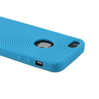 ZuGadgets Blue Circles /Ripples Pattern Silicone Soft Case Cover Shell for New iPhone 5 (7888 4) Cell Phones & Accessories