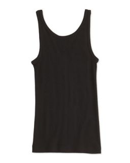 Girls Favorite Ribbed Tank Top, Black, S XL   Vince