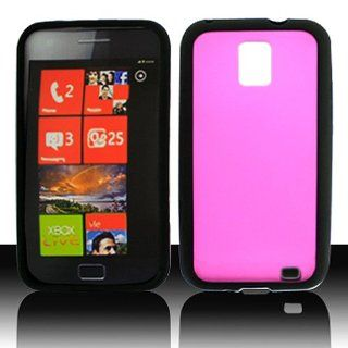 Frosted Clear Hot Pink Hard Cover Case for Samsung Focus S SGH I937 Cell Phones & Accessories
