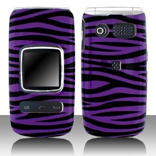 Premium   Pantech P2000/Breeze II Purple/Black Zebra Cover   Faceplate   Case   Snap On   Perfect Fit Guaranteed Cell Phones & Accessories