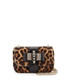 Sweet Charity Leopard Print Calf Hair Mini Shoulder Bag   Christian Louboutin
