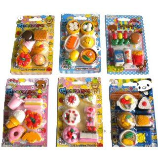 36 Pcs Cute Food Erasers Desserts Burger Drinks Cake Ice Cream Etc Toys & Games