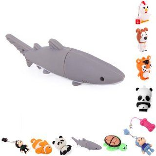 HDE Novelty Animal Shaped USB Flash Drive (8GB, Great White Shark) Computers & Accessories